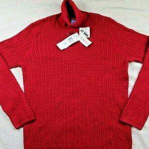 Anne Klein Sport Red Stretch Turtleneck Sweater XL